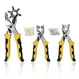 3 in1 Card Ledergürtel Locher + Öse Zange + Snap Schaltfläche Setter Werkzeug Kit