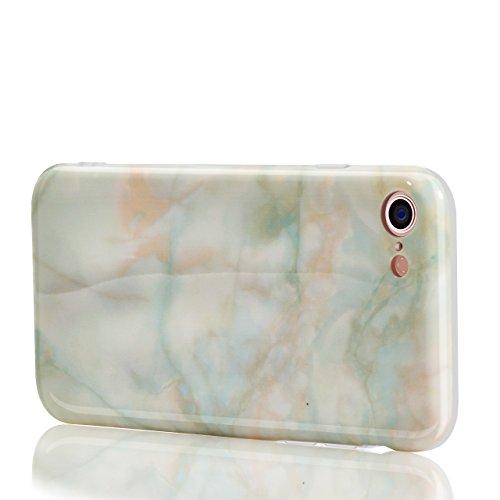 Vandot Cover per iPhone 6 Plus / 6s Plus 5.5 Pollice - Custodia rigida in plastica per cellulare - Marble case back cover Design marmo ,in TPU [Anti Graffi][Ultra Slim] Marble,Modello Marmo Candy Sili model 27