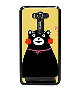 Cute Bear 2D Hard Polycarbonate Designer Back Case Cover for Asus Zenfone Selfie ZD551KL