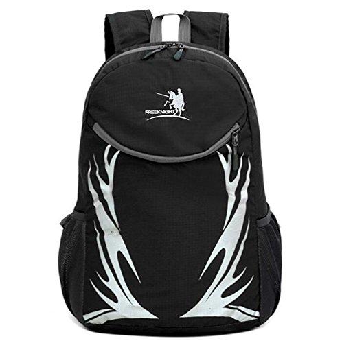Wmshpeds Ultra-light borsa a tracolla con borsa di pelle esterno pieghevole alpinismo zaino viaggio uomini e donne borsa sportiva E