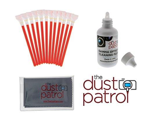 Digitalkamera Reinigungsset mit The Dust Patrol Sensor Swabs Alpha + The Dust Patrol Gamma Sensorreiniger für Kameras mit 1,6x ( APS-C) Sensorgröße (nahezu alle digitalen Reflexkameras, die keinen Vollformatsensor haben)