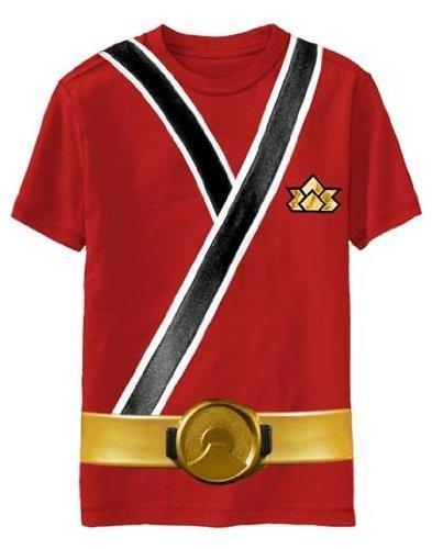 Power Rangers Rot Samurai Ranger Uniform Monster Youth T-Shirt Tee Gr. Small, (Uniform Ranger Power)
