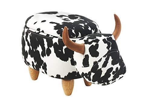 Kobolo Tierhocker Kinderhocker Hocker Cow mit Staufach im liebevollen Kuh-Design