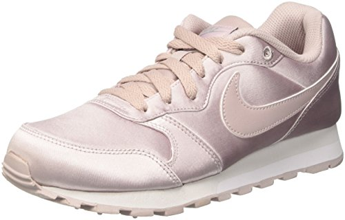 Nike Damen MD Runner 2 Sneaker Pink Particle Rose-metallic Silver 602, 36.5 EU (Satin-schuh)