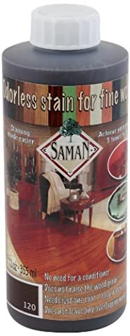 SamaN TEW-120-12 12-Ounce Interior Water Based Stain for Fine Wood, Dark Walnut by SamaN