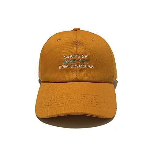 Hut weibliche Kappe Bestickt Straße Hipster Softtop Baseballmütze männliche Hip Hop Cap gelb - Hipster Kostüm Männlich