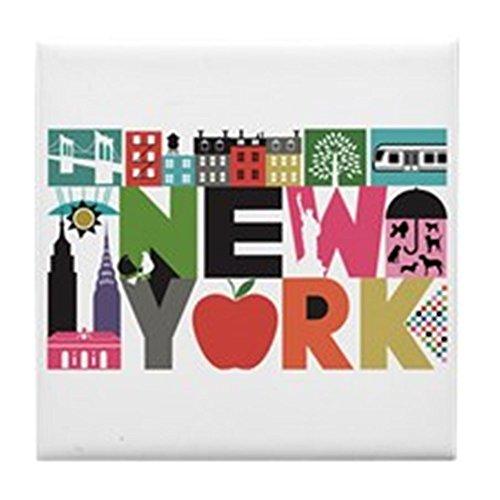 CafePress-Einzigartiges New York-Block von Block-Tile Untersetzer, Drink Untersetzer, Untersetzer, Klein -