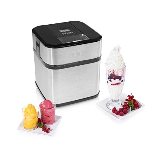 Con esta máquina puede fácilmente hacer deliciosos helados en casa. Es fácil de controlar con el temporizador digital y la pantalla LCD. Desmontable, perfecta para limpiar. Acabado elegante en acero inoxidable. Heladera 1.5 litros, 1 bol