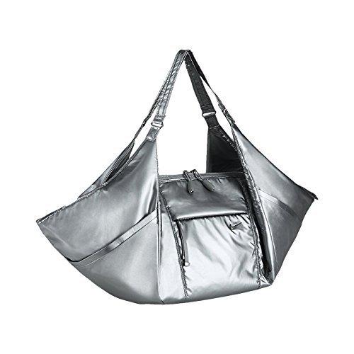 (Nike VICTORY GYM TOTE BAG für Damen, Damen, Victory Gym Tote, Silber/Schwarz (Mtlc Cool Grey/Mclgy/Mclgy), Einheitsgröße)