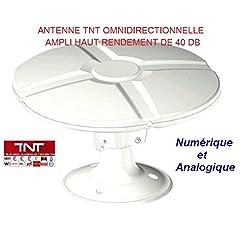 Tonna – Antenna unidirezionale 40dB TNT per camper, roulotte