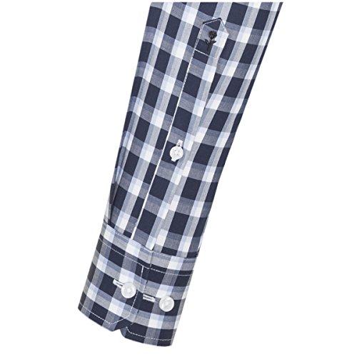 Seidensticker Herren Businesshemd Modern Langarm mit Button-Down-Kragen Bügelfrei Kariert Mehrfarbig (Blau 18)