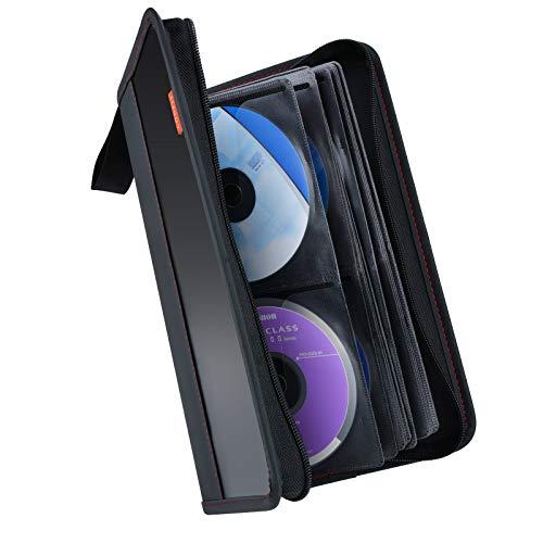 CD Tasche,COOFIT DVD aufbewahrung CD aufbewahrung 64 CD/DVD Tasche DVD Lagerung DVD Case VCD Wallets Speicher Organizer Hard Plastik Schutz DVD Lagerung