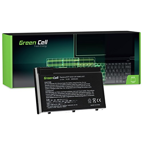 Green Cell® BTP-63D1 BTP-96H1 BTP-98H1 BTP-AHD1 Laptop Akku für Acer TravelMate 2410 2412 4400 C300 C310   Acer Aspire 3020 3610 5020 (8 Zellen 4400mAh 14.8V Schwarz)