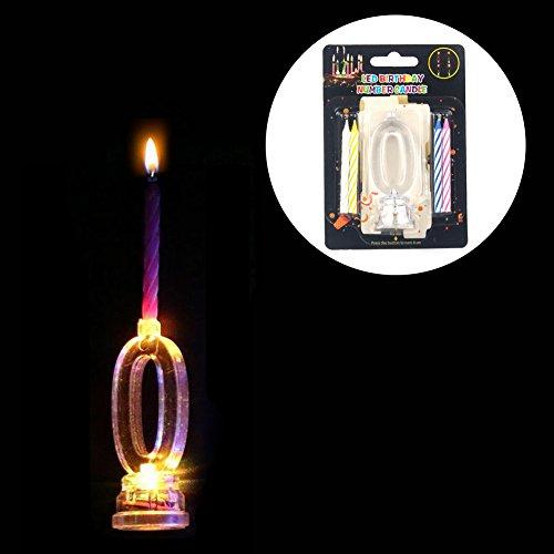 LED Elektronische Kerze colorful wechselndes Licht Zahl 0–9Licht Set für Geburtstag Weihnachten Thanksgiving Home Kinder Schlafzimmer Dekoration 0