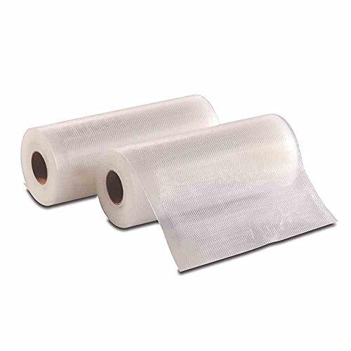 Solis Vakuumierfolie, 2 Rollen, 15 x 600 cm, Tiefkühlen/ Vakuumgaren, Individuell Zuschneiden, Wiederverwendbar