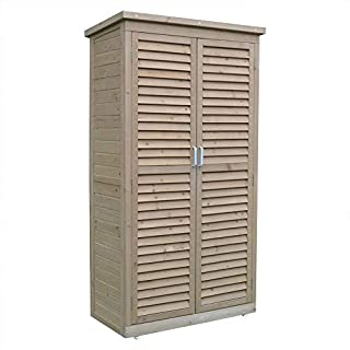 Airwave Wooden Garden Shed for Tool Storage With Double Doors - 160cm high