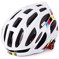 Flowerrs Casco Scooter Casco Ajustable para Bicicleta Casco de Bicicleta de ventilación porosa para Hombres Mujeres (Blanco) Skate Helmet