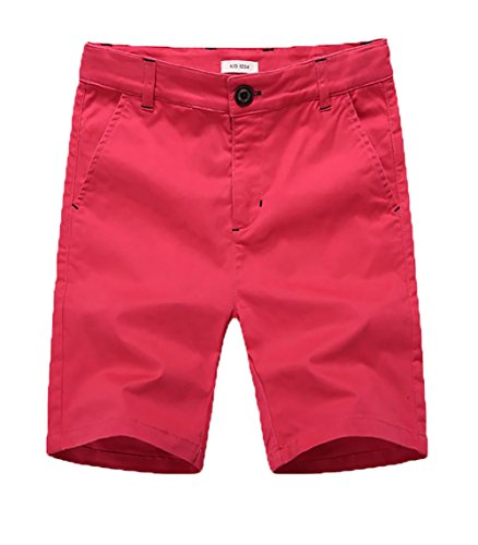 basadina Boys Shorts - Summer Chino Cotton Beach Shorts Fitted with Adjustable Waist,4-14 Years Old