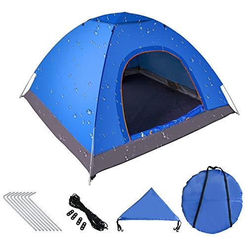 Pop up Zelt 200cm x 200cm x 150cm, Tragbares Strand-Zelt mit LSF50+ UV-Schutz für Outdoor Sport Camping Wandern Reisen Strand 2-4 Person