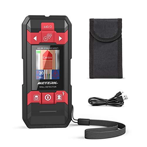 Laser Entfernungsmesser & Ortungsgerät, Meterk 2 in 1 Distanzmessgerät mit Wand Scanner Detektor Stud Finder für Distanzmessung und Stromleitung-, Holz- und Metallerkennung