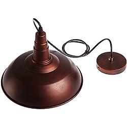 Sunsbell® Industrial Vintage Retro Loft pared de café de la barra de iluminación Luminaria Sconce colgante lámparas de techo lámparas de luz para las bombillas E27 Edison (Brown, bombilla no está incluido)