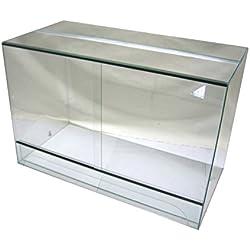 Terrarium 120x60x60 cm mit Schiebetür, Glasterrarium, Schlangen Bartagamen Gekkos