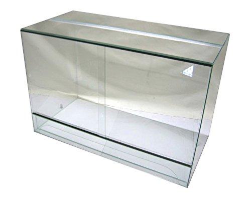 Terrarium 120x60x80 cm mit Schiebetür, Glasterrarium, Schlangen Bartagamen Gekkos
