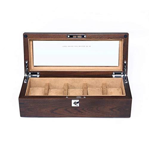 Duzhengzhou Uhr Aufbewahrungsbox Alte Ulme Massivholz Uhrenbox Holz Männer Und Frauen Uhr Aufbewahrungsbox Mit Schloss (Color : 2) - Alte Holz Uhr