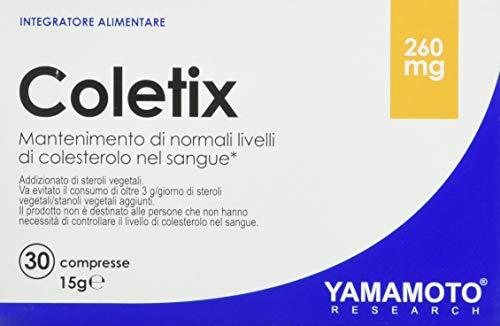 Yamamoto Research Coletix integratore alimentare a base di riso rosso fermentato con gamma orizanolo e coenzima Q10 30 compresse