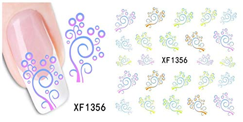 LCFCJK Nagel-Aufkleber Damenmode Nägel Dekorative Aufkleber DIY Dekorative Werkzeuge Kunst Design Wasserzeichen Nagel Aufkleber (10 Fotos), A3