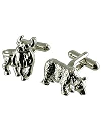Cuff Links Bolsa gemelos~financial~Bull & Bear gemelos Seleccione bolsa de regalo