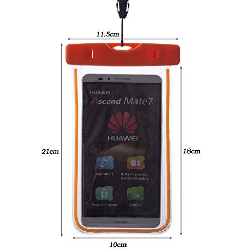 Beiuns Pochette étanche moins de 5.7 écran pouces universelle Etui portable imperméable 10m de profondeur pour Apple iPhone 6, 6 Plus, 5/5S, 5C, 4/4S, iPod Touch 4, Touch 5, 3gs 01505