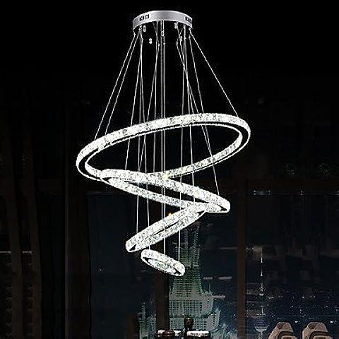 Led del telecomando di cristallo lampadari di luce di illuminazione