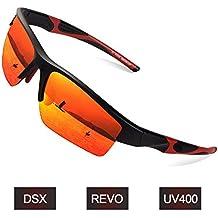 Elegear Gafas de Sol Deportivas Hombre PC 2018 Gafas de Verano Polaroid  Anti Rayos UVA UV Marco PC Lente con REVO Anti Aceite Gafas Hombre y Mujer  Bici ... 1d1a51769634