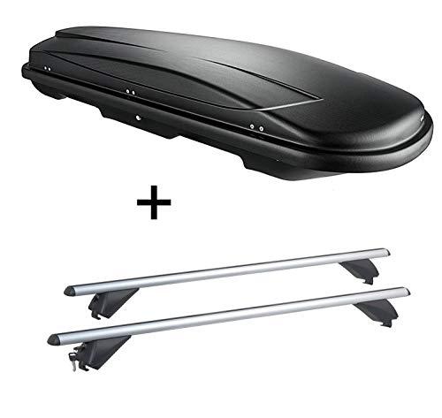VDP Dachbox VDPJUXT600 600Ltr abschließbar + Alu Dachträger RB003 kompatibel mit BMW X3 (F25) (5Türer) 2011-2017