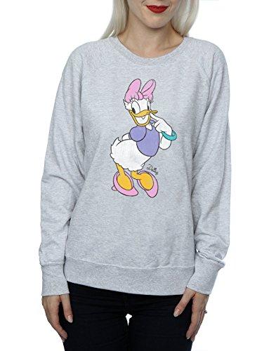 Disney Donna Classic Daisy Duck Felpa Heather Grey