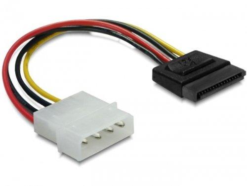 Delock Stromkabel (SATA, 15-polig auf 4-polig Molex) -