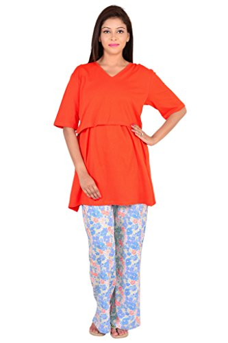 9teenAGAIN layered Nursing Night Suit with front opening_2MN16-0742-NS1-P