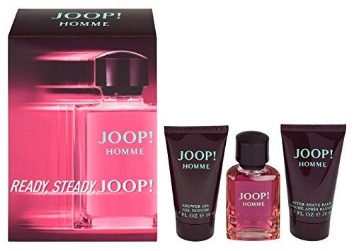 Joop Homme Geschenkset für Ihn (EdT Spray 30ml, Aftershave Balm 50ml + Duschgel 50ml)