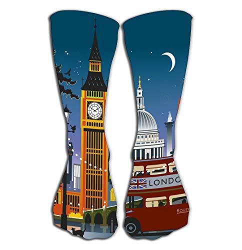 Xunulyn Hohe Socken Women's Knee High Socks Athletic Mid-Calf Socks 19.7