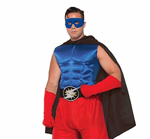 rheld oder Bösewicht Muscle Brust gepolstert Shirt Kostüm Zubehör (Superheld Oder Bösewicht Kostüme)