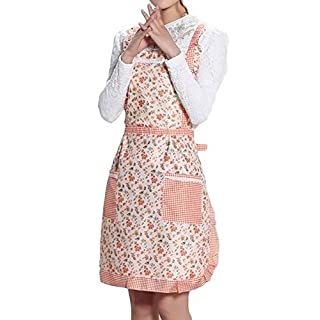Women Apron With Pocket Thicken Waterproof Half Waist Apron for Cooking, Baking and Gardening (B)