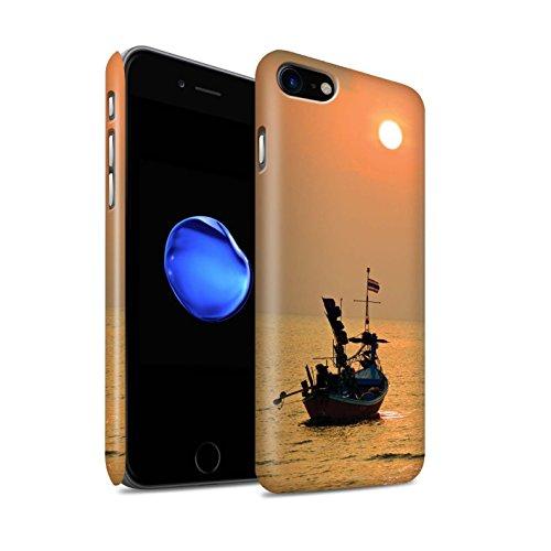 STUFF4 Matte Snap-On Hülle / Case für Apple iPhone 8 / Feuerwerk Muster / Thailand Landschaft Kollektion Orange Sonne