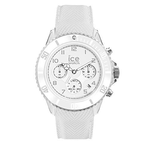 Ice-Watch - Ice Dune White - Weiße Herrenuhr mit Silikonarmband - Chrono - 014217 (Large)