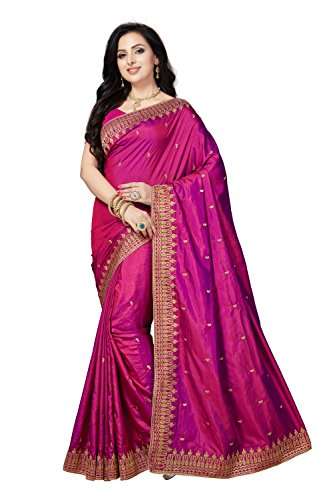 Rani Saahiba Art Silk Embellished Embroidered Saree ( SKR3720_Purple )