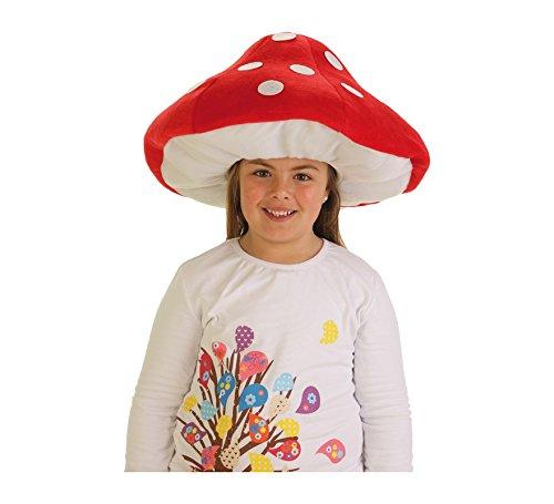 Gorro de Seta infantil. Perfecto complemento para nuestros disfraces de hongo, seta o champiñón.