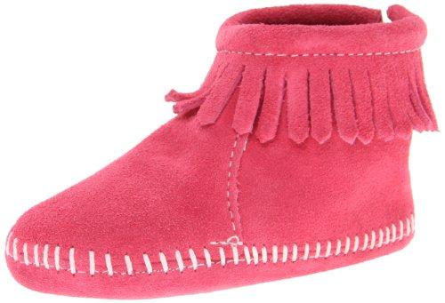 Minnetonka Baby Mädchen Backflapbootie Lauflernschuhe Pink (Pink)