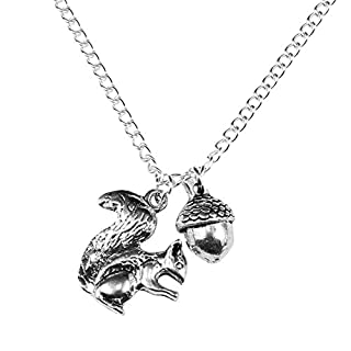 The Funky Barcode SQUIRREL & NUT NECKLACE Complete With Gift Box