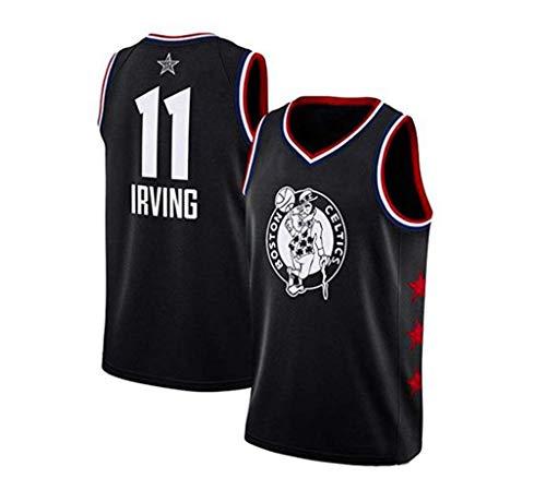 LLZYL NBA 11# Celtic Kyrie Irving All-Star-Spieler, Cooler atmungsaktiver Stoff, klassisch ärmellos, Herren- und Unisex-Basketball-Shorts, T-Shirt-Jersey,4XL:185cm/80~90kg - All-star-jersey
