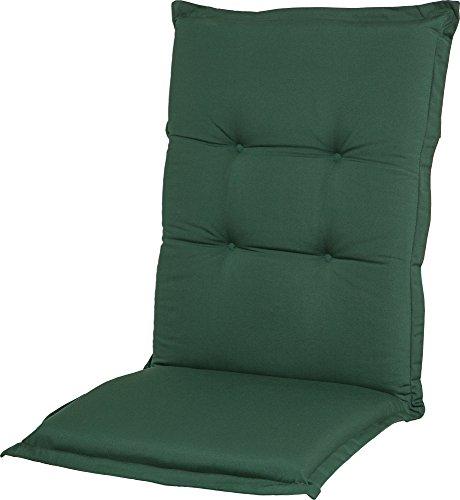 Casa Mina Polsterauflage Hochlehner 120x50cm Classic Uni grün, Dessin 1214 - Classic Hochlehner Sessel